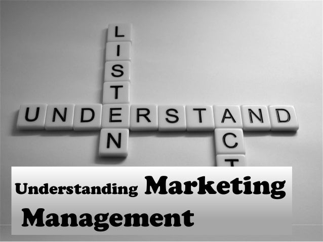 importance of marketing management pdf