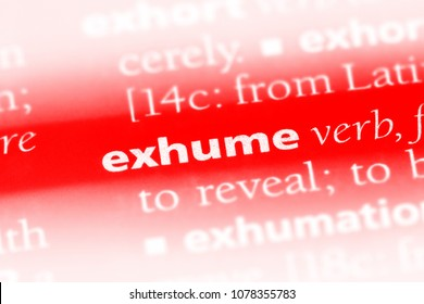 exhume dictionary
