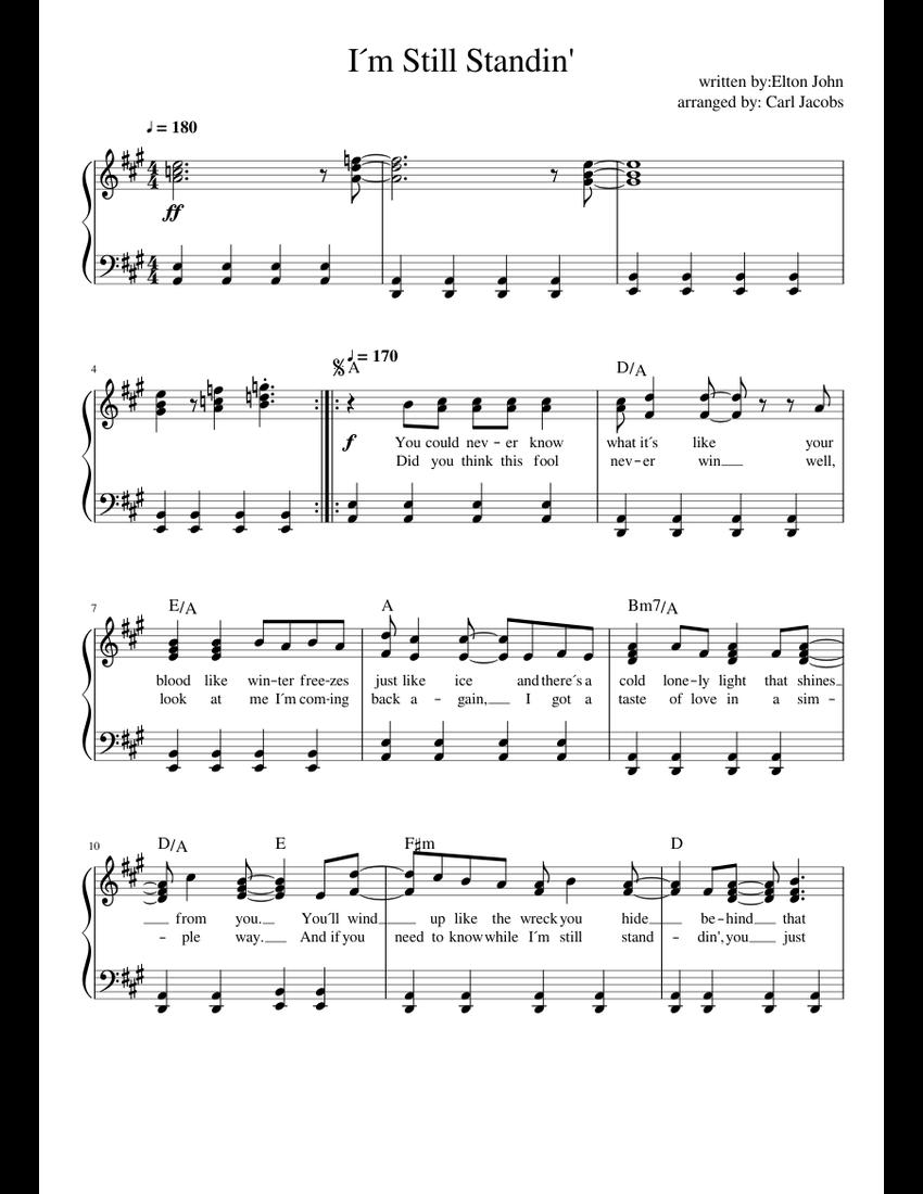 i m still standing sheet music pdf free