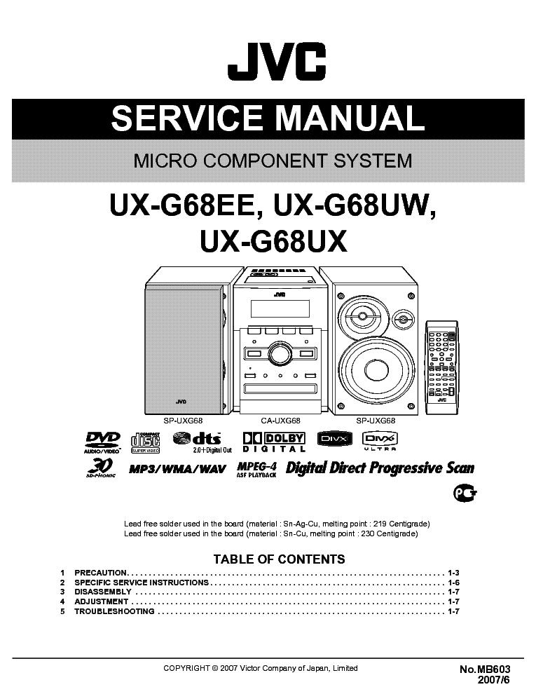 jvc ux dn650a manual