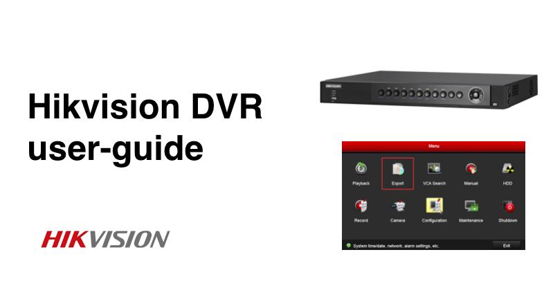hikvision cctv user manual