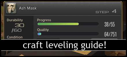 ffxiv culinarian leveling guide