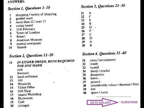 ielts 11 listening test 1 answers pdf