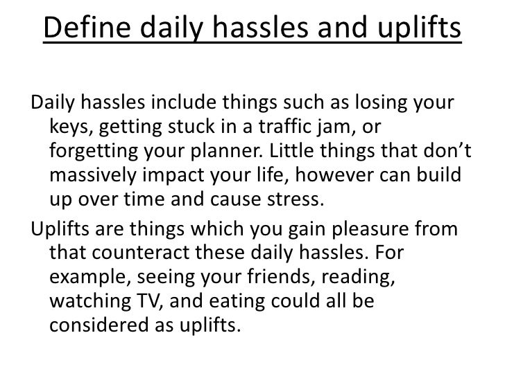 hassles and uplifts scale pdf