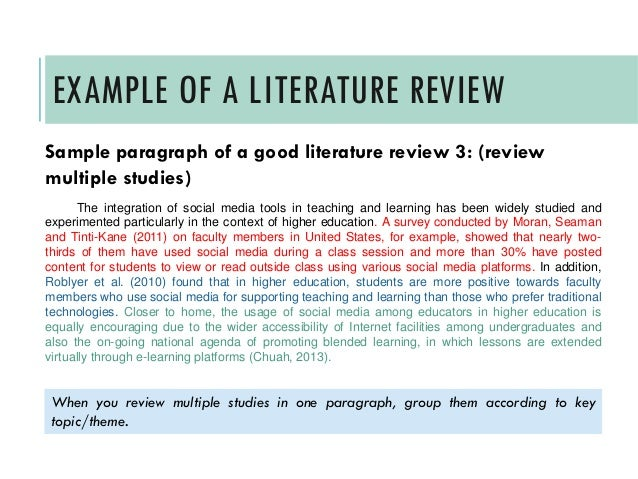 guide to writing a literature review example