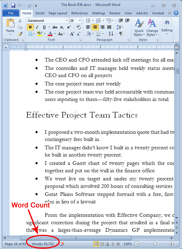 how to emasure word count on pdf