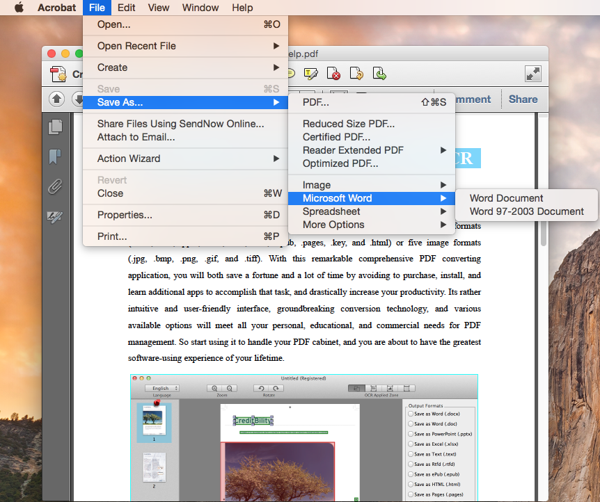 how to convert pdf to png adobe