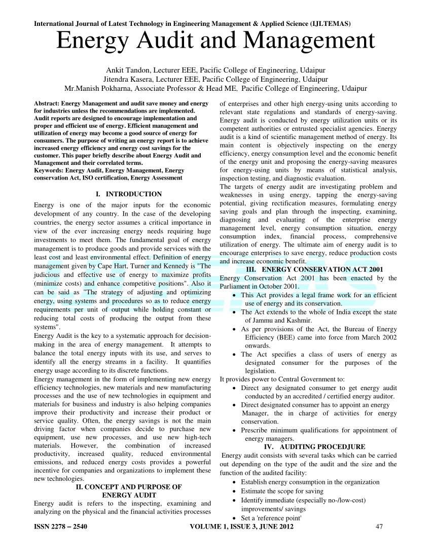 energy audit in india pdf