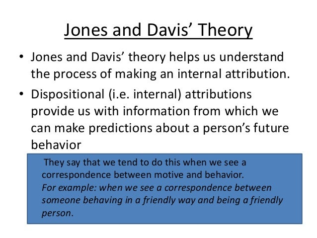 jones and davis correspondent inference theory pdf
