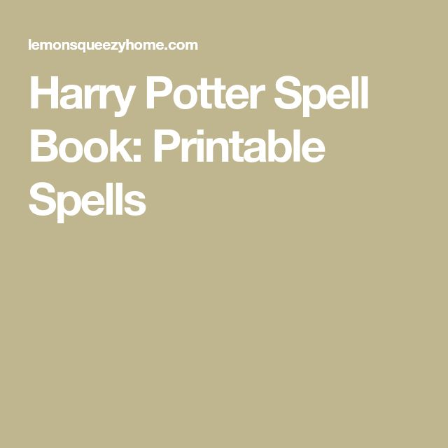 harry potter spell book pdf