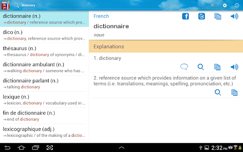 english to french dictionary java app