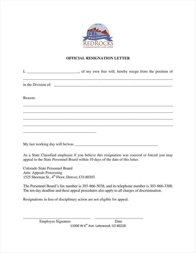 free download sample official letters