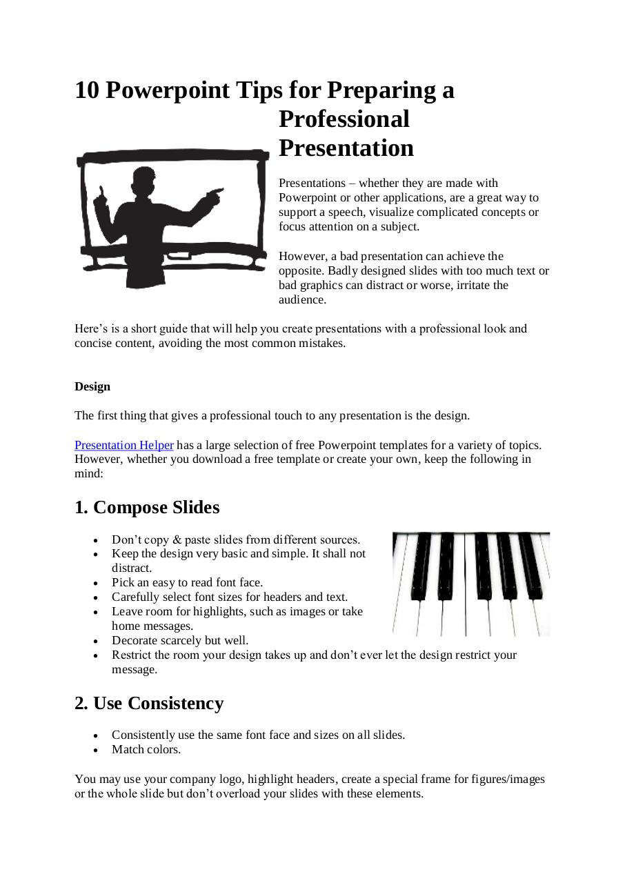 guide to professional powerpoints