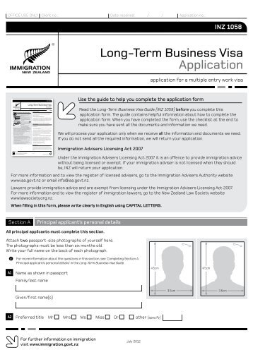 immigration application form nz