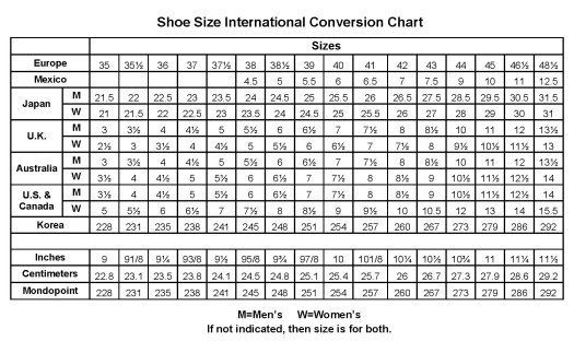 lotto shoes size guide