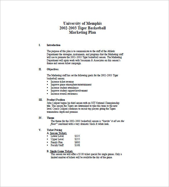 event marketing plan template pdf