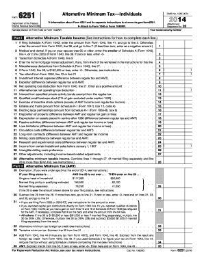 form 6251 instructions