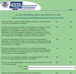esta application questions