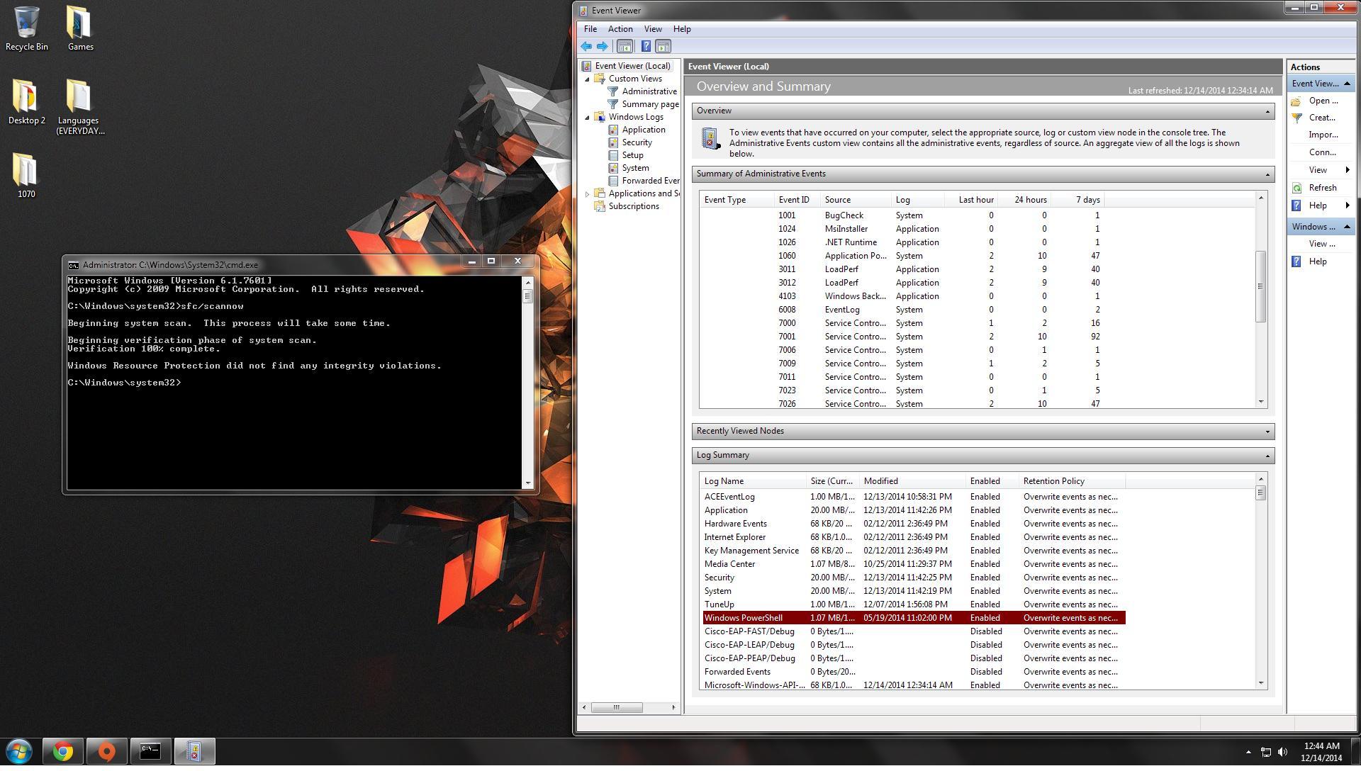 event viewer application error 1000 cmd