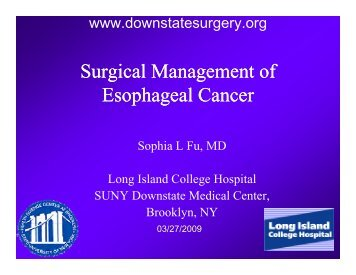 management of esophageal cancer pdf