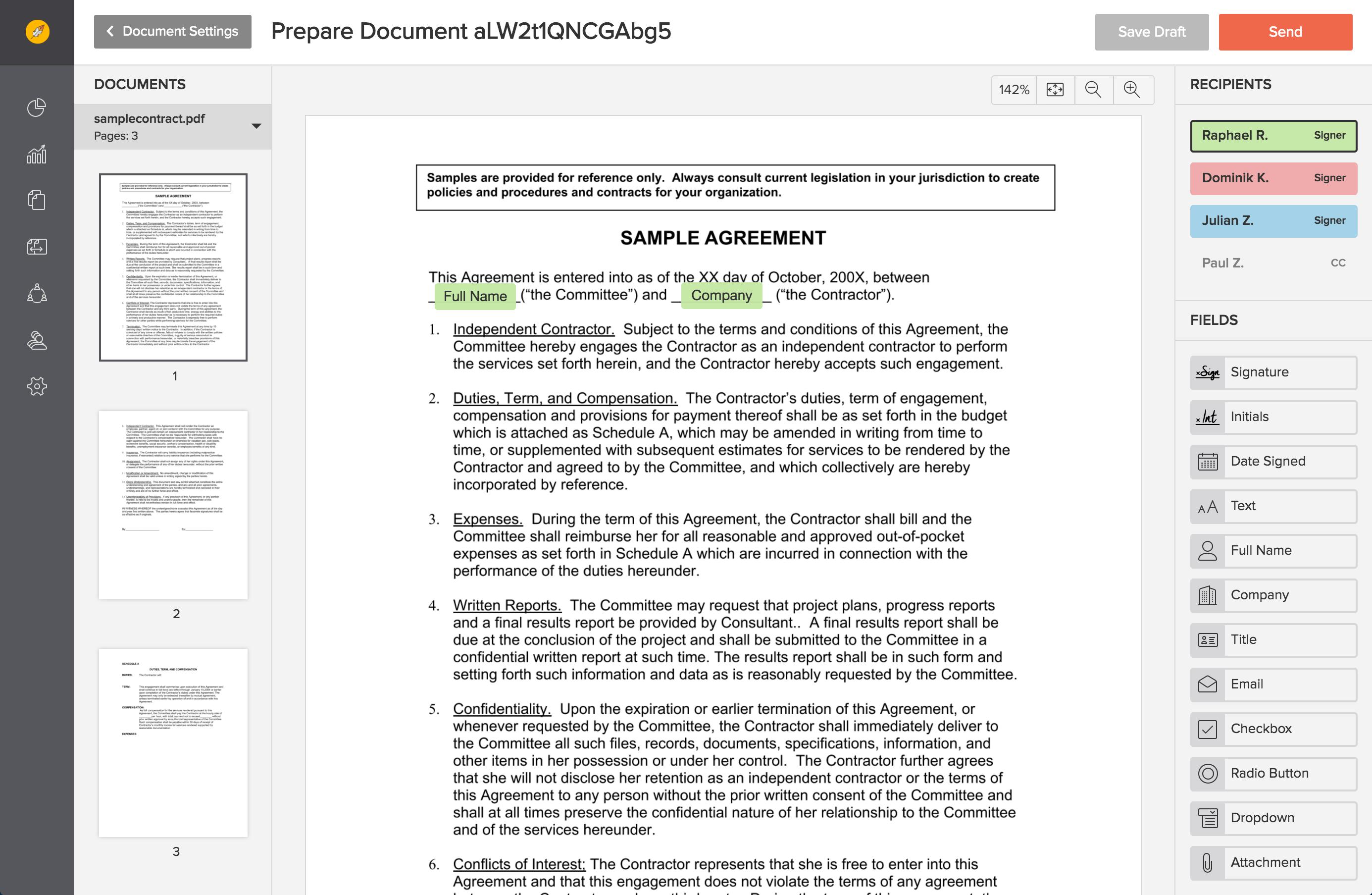free pdf editor upload document