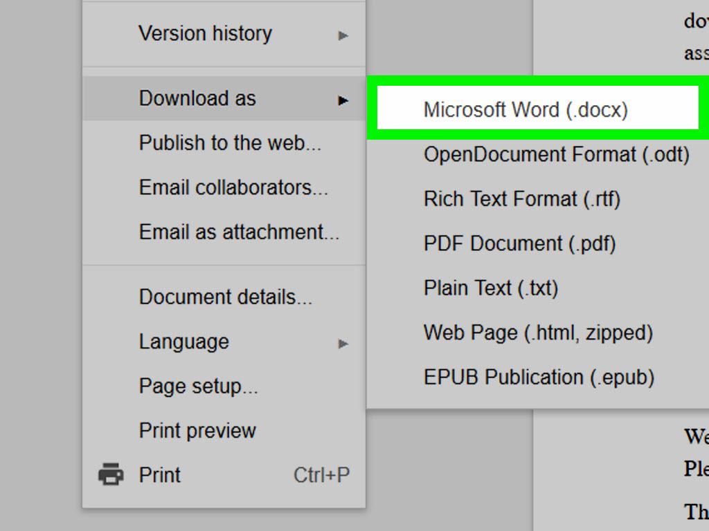 google docs pdf to work