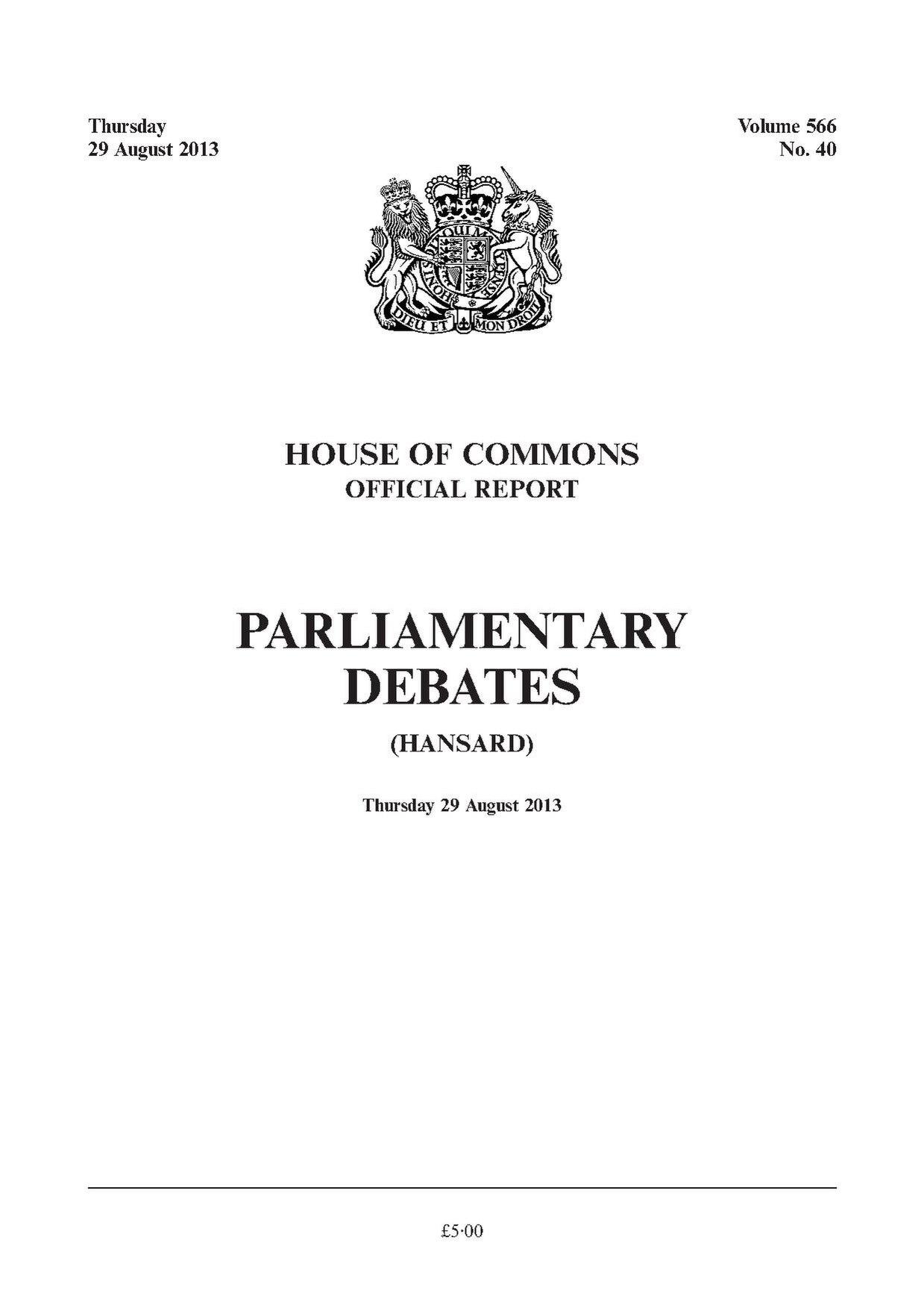 hansard pdf