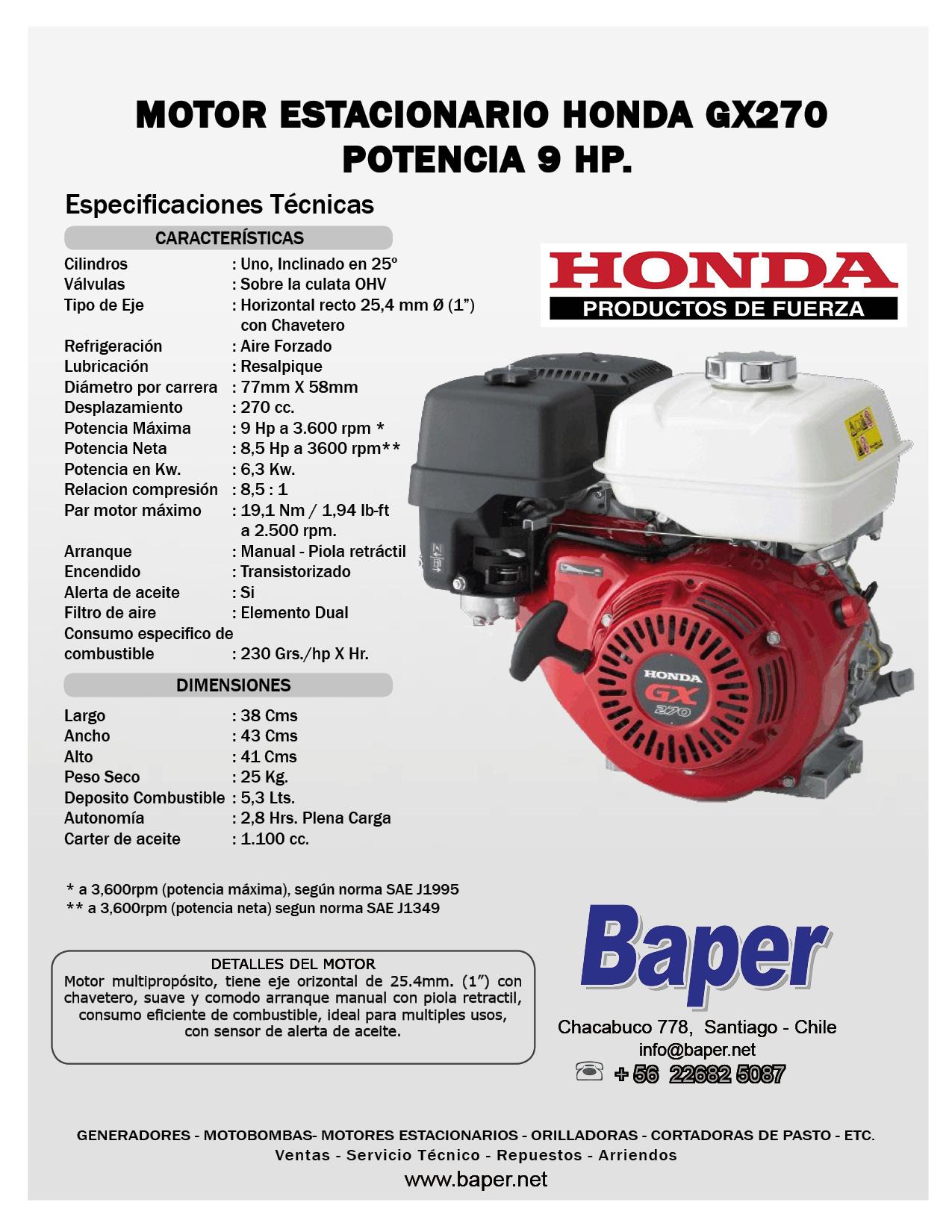 honda gx270 manual