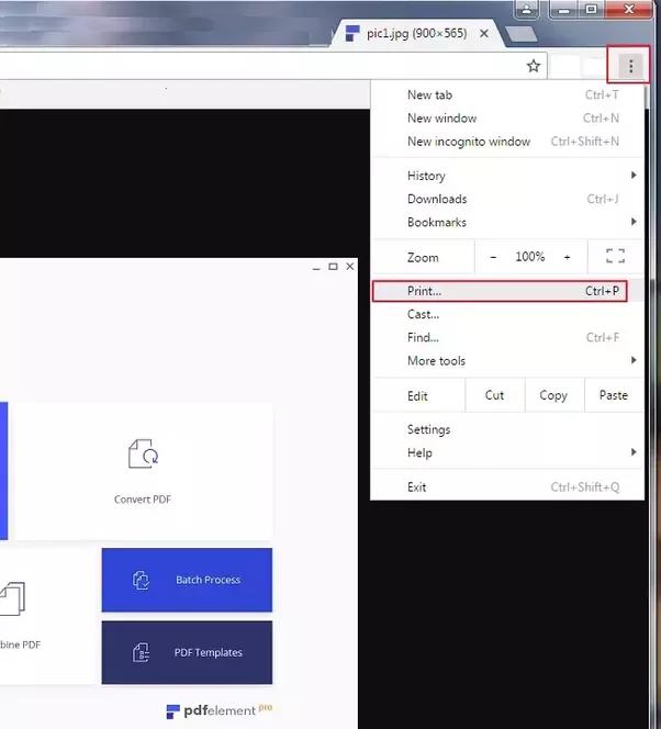 how do i convert pdf to jpg windows 7
