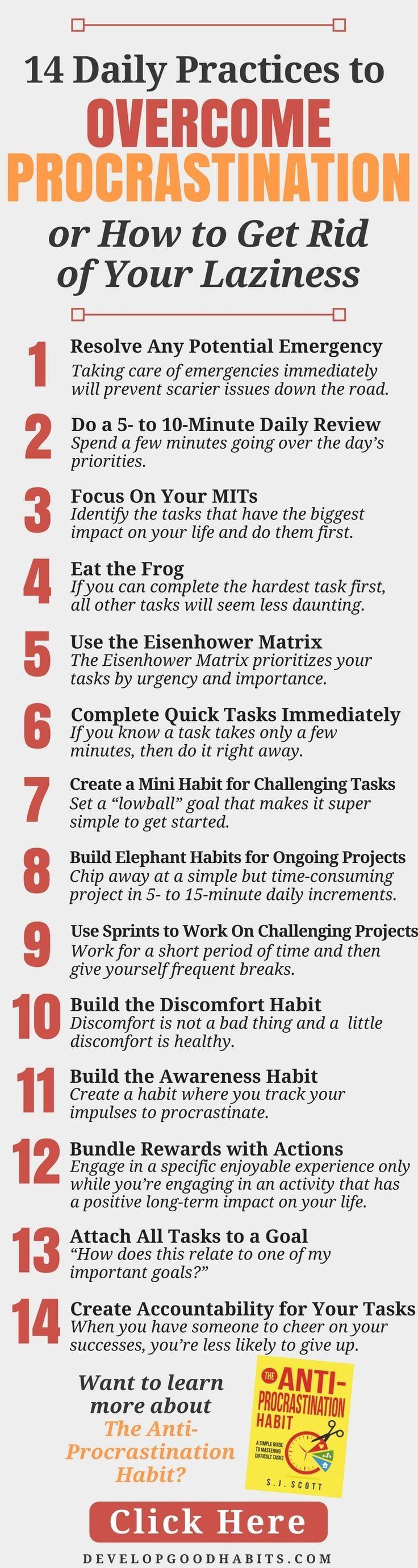 how to stop procrastinating pdf