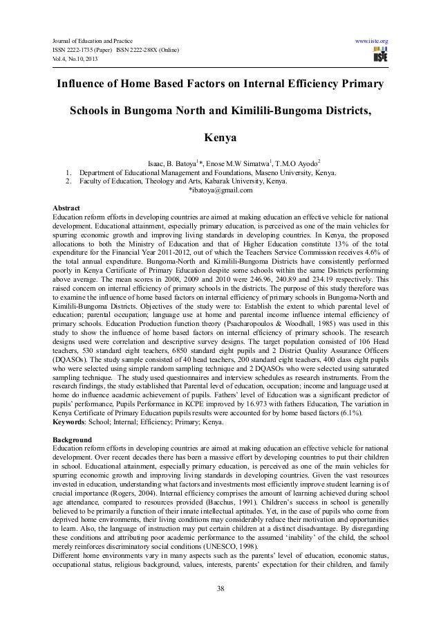 internal efficiency in education pdf